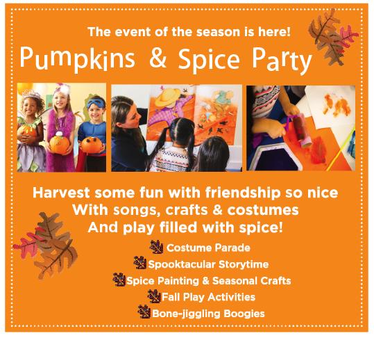 Tiệc Pumpkin Spice tại Gymboree