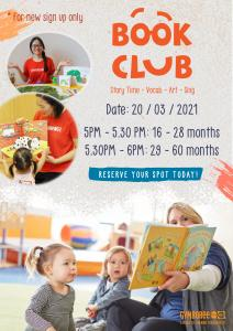 OPEN BOOK CLUB FOR NEW SIGN UP AT GYMBOREE PLAY & MUSIC!